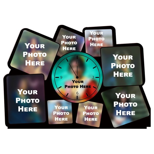 Personalized Photo Collage Frame Table Clock (HB2013)